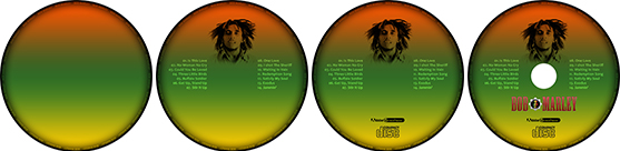 cd process Photoshop ile CD Kaplama & Giydirme (Bob Marley Cover)