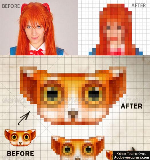 Adobewordpress.com: Photoshop Ile Görselleri Piksele çevirin