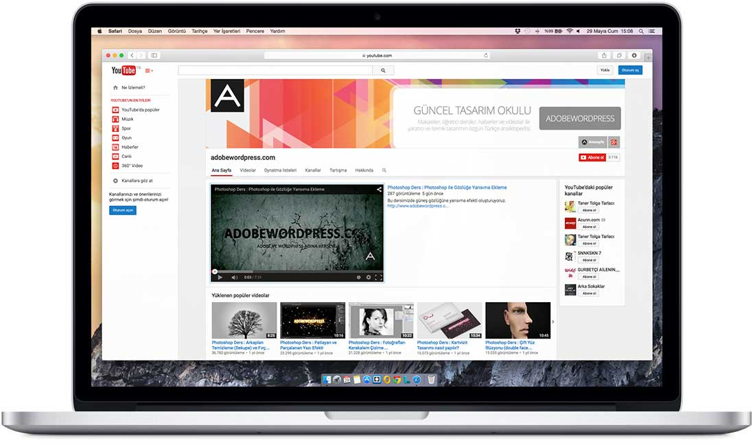 Adobewordpress YouTube'da!