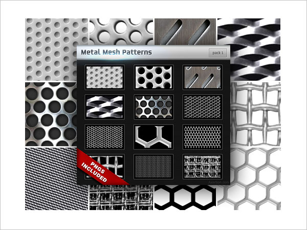 Metal Mesh Patterns Pack 1