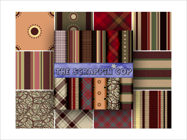 ScrappinCop Pattern Set 1