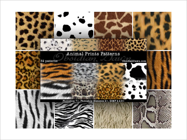 Animal Prints Photoshop Patterns