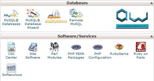 cPanel > Databases