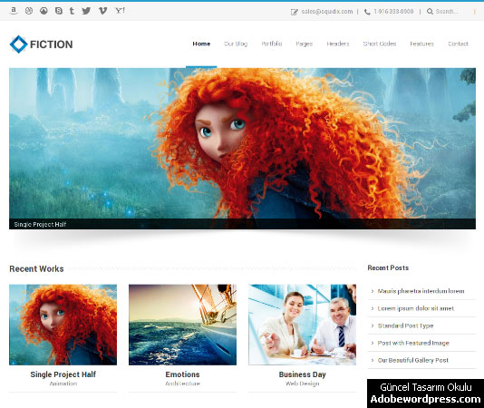 Fiction WordPress Teması