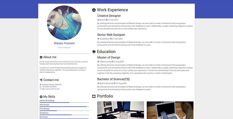 8-resume-material-design